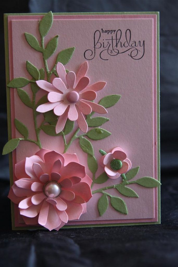 Flower card ideas for handmade cards and card making
