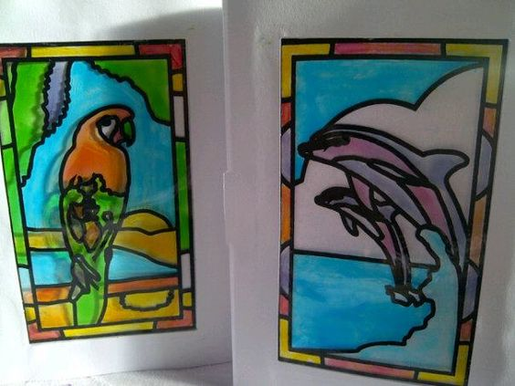How to do glass painting for greetings cards