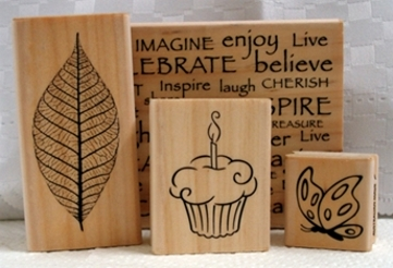 Rubber stamps stamping for card making
