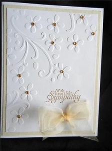 Sympathy card ideas for handmade cards and card making