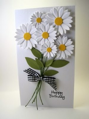 Flower card ideas card making world tab that you attach to each of your flowers and to the card using glue then just stamp your greeting in this case happy birthday underneath done thecheapjerseys Images
