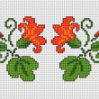 Free cross stitch pattern guide for card making