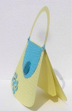 Handbag card from the side