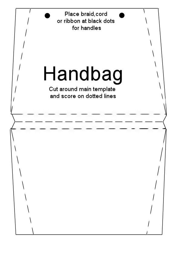 Handbag card template